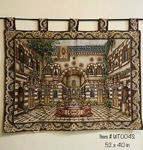 LARGE BRAND NEW WALL TAPESTRY ART/RUG/BLACKOUT CURTAIN HANDMADE WITH BEADING
