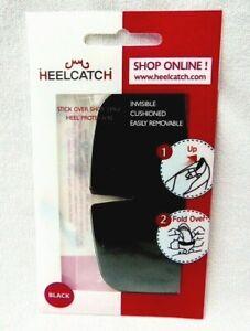 HEELCATCH SHOE HEEL EDGE PROTECTOR FOR CUSHIONED HEEL COMFORT BLACK 2 PAIRS NEW