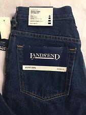 Land's End Size 6 / 31 Natural Classic Fit Indigo Denim Blue Jeans Women's NWT