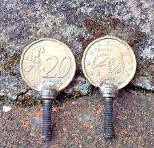 TATTOO MACHINE 1X 20 CENT NORDIC GOLD TUBE VICE COIN SCREW M4 THREAD X 16 MM