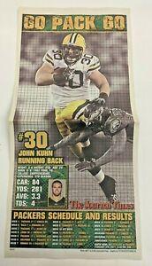 John Kuhn - Green Bay Packers 2010-11 Super Bowl Champs Newspaper Poster