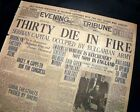 DIAMOND CANDY COMPANY North Brooklyn New York FIRE Disaster 1915 Old Newspaper
