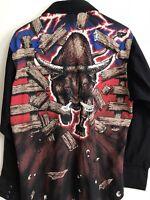 Wrangler Men's Western Cowboy Rodeo Bull Pearl Snap X-long Tails Shirt 16-34