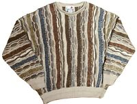 VTG Florence Tricot Cosby Biggie Hip Hop 90s 3D Textured Sweater Size L FREE SHP