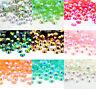 4000Pcs Crystal Flat Back Iridescent Nail Art Rhinestones Gems AB Glitter Beads*