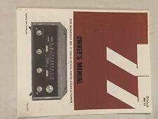 "MCINTOSH MR77 ""COPY OF ORIGINAL"" USER MANUAL"