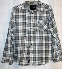 Blue Crown L.A. Men's XXL Flannel Paid Shirt One Chest Pocket Long Sleeves