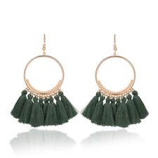 Women Bohemian Earrings Long Tassel Fringe Boho Dangle Earrings Vintage Jewelry