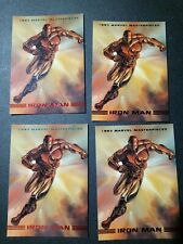 1993 Skybox Marvel Masterpieces #4 Iron Man NM/MT (4) Cards