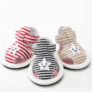 Non-slip Dog Shoes Pet Puppies Cute Sandal Comfy Footwear Outdoor Boots 4pcs/lot