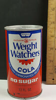 Weight Watchers Cola No Sugar Can Flat Pull Tab Top Rare Vintage