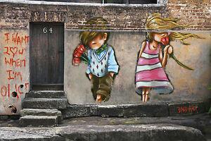 SUPER SIZE A0 POSTER NOT A by ANDY BAKER STREET LOVE BOY GIRL  ART GRAFFITI