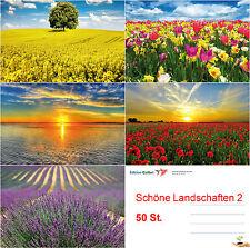 50 SCHÖNE LANDSCHAFTEN: Natur Postkarten-Set 50 St. Ansichtskarten Sommer