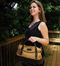 RARE STRAW BLACK NATURAL Kate Spade NY Cobble Hill LESLIE RICH LEATHER