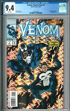 Venom Funderal Pyre #1 CGC 9.4 NM WP Marvel Comics 8/93 1993 Punisher Holo Grafx