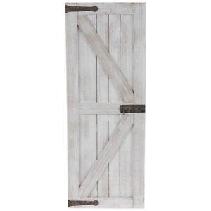 White Barn Door Wood Wall Décor. Farmhouse Style Wood Metal Indoor Panels Plaque