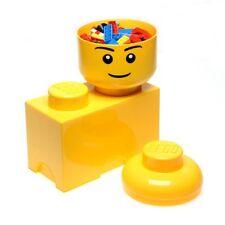 LEGO stockage brique 2 Jaune Boite de rangement jouets d'enfants salle jeux