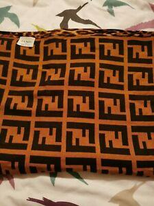 fendi leopard scarf