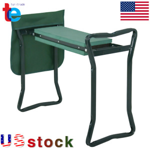 NEW Garden Kneeler Seat w/ Kneeling Pad and Tool Pouch Folding Portable Bench