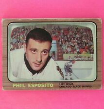 PHIL ESPOSITO  1966 2nd. Yr. CARD  Topps #63    Chicago BlackHawks   Lot E1