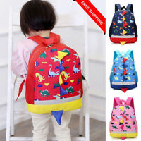 AU Boys Girls Kids Dinosaur Pattern Animals Zipper Backpack Toddler School Bag