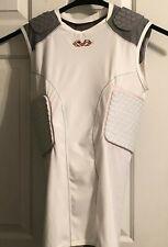MCDAVID 7932 Men White Hex Shirt 5-pad Protection  Football Pads