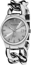 Akribos XXIV Women's AK608RG Impeccable Diamond Swiss Quartz Twist Chain Bracelet Watch