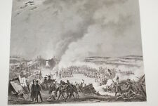 NAPOLEON BIVOUAC ARMEE AUSTERLITZ 1805  GRAVURE 1838 VERSAILLES R1100 IN FOLIO