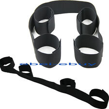New Black Strong Nylon Band Strap Bondage Restraint Fancy Wrist to Ankle Cuffs