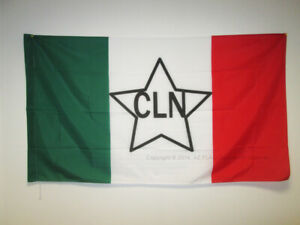 NATIONAL LIBERATION COMMITTEE ITALY FLAG 3' x 5' for a pole - ITALIAN CLN FLAGS