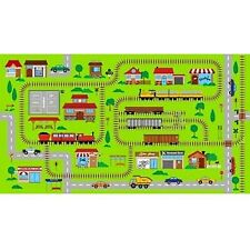 Connector Playmats Kids Toys Train Tracks Scene Panel 100% Cotton Fabric