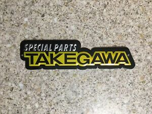 TAKEGAWA Aluminium Heat Resistant Sticker Emblem badge Decal Motorcycle Exhaust
