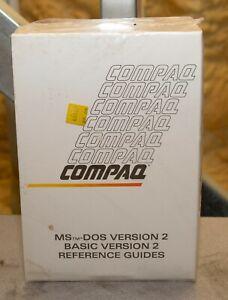 Vintage Compaq MS-DOS 2 Basic Version 2 reference guides MAN2