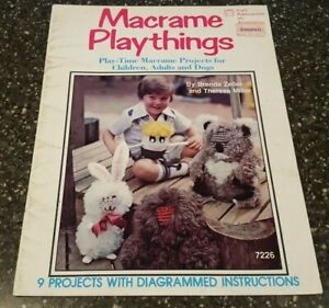 Macrame Playthings Craft Publications 9 Projects Pattern 7226