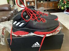 Mens Adidas Sm Explosive Bounce  Black & Red Basketball Shoes , Size 8.5