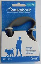 WALKABOUT WEBBED RETRACTABLE LEASH XSMALL BLACK 10 FT UP TO 18 LBS NEW AUTHENTIC