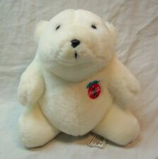 "Coca-Cola 1993 COKE POLAR BEAR 7"" Push STUFFED ANIMAL TOY"