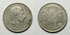 ESPAÑA. ALFONSO XII.    50 CENTAVOS DE PESO 1881 MANILA.       MBC -
