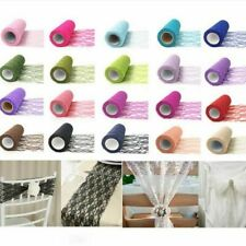Table Runner Tulle Organza Roll Fabric Sheer Gauze Element Wedding Decoration