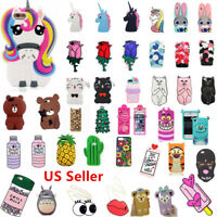 Cartoon Case iPhone 6 Soft XS Max XR Cute Rubber 7 Silicone Plus Back 3D 8 Cover