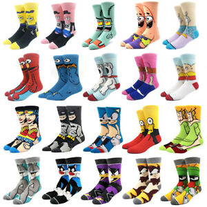 Cartoon Anime Super Hero Novelty Breathable Cotton Socks Unisex USA Seller New