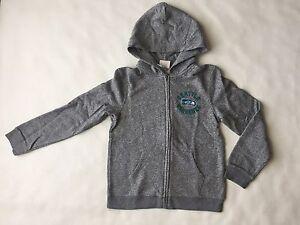 New NFL SEATTLE SEAHAWKS Hoodie Kid's Size XL Full-Zip Grey Sweatshirt Junk Food