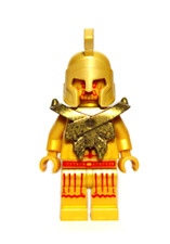 Lego Atlantis Temple Statue 7985 Poseidon The Golden King Minifigure