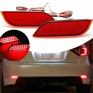 For Subaru Impreza WRX STi Red Lens 26-LED Bumper Reflector Rear Brake Stop Lamp