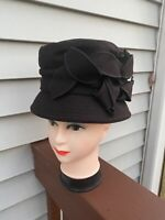 New CC Exclusives Women's Wool Dark Brown Bucket Cloche Winter Hat