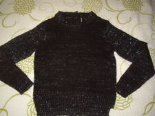 BNWOT GIRLS BLACK GLITTER SPARKLY SOFT KNITTED JUMPER CHRISTMAS 8 Y  7-8 Y