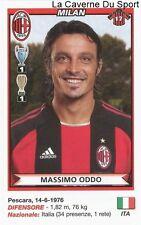 MASSIMO ODDO ITALIA AC.MILAN RARE UPDATE STICKER CALCIATORI 2011 PANINI