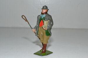 Vintage Britains lead farm figure - SHEPHERD WITH LAMB