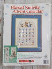 Dimensions Blessed Nativity Advent Calendar Cross Stitch Christmas Kit