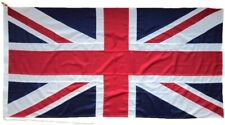 Sewn Union Jack 5x3 Flag Made on MOD Approved woven cotton cloth rope and toggle